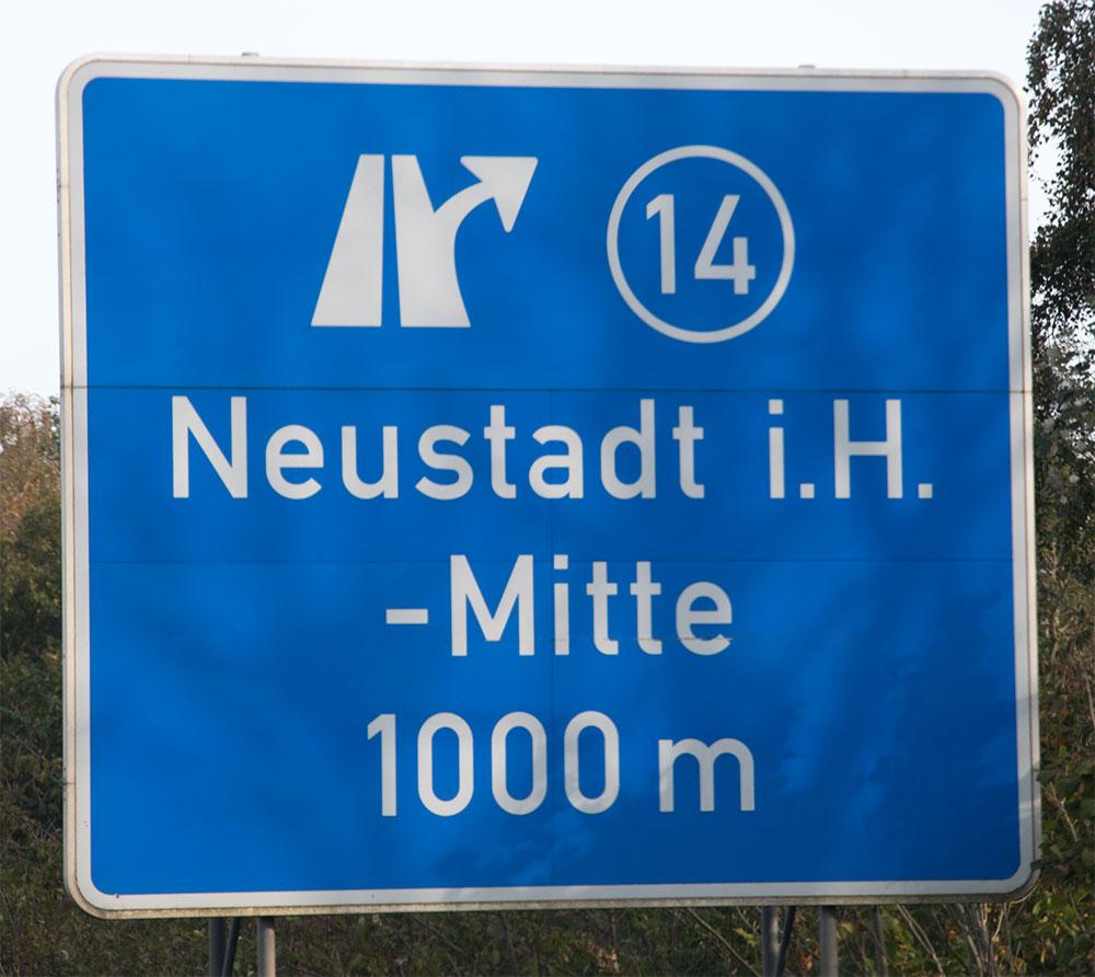 Ausfahrt Neustadt